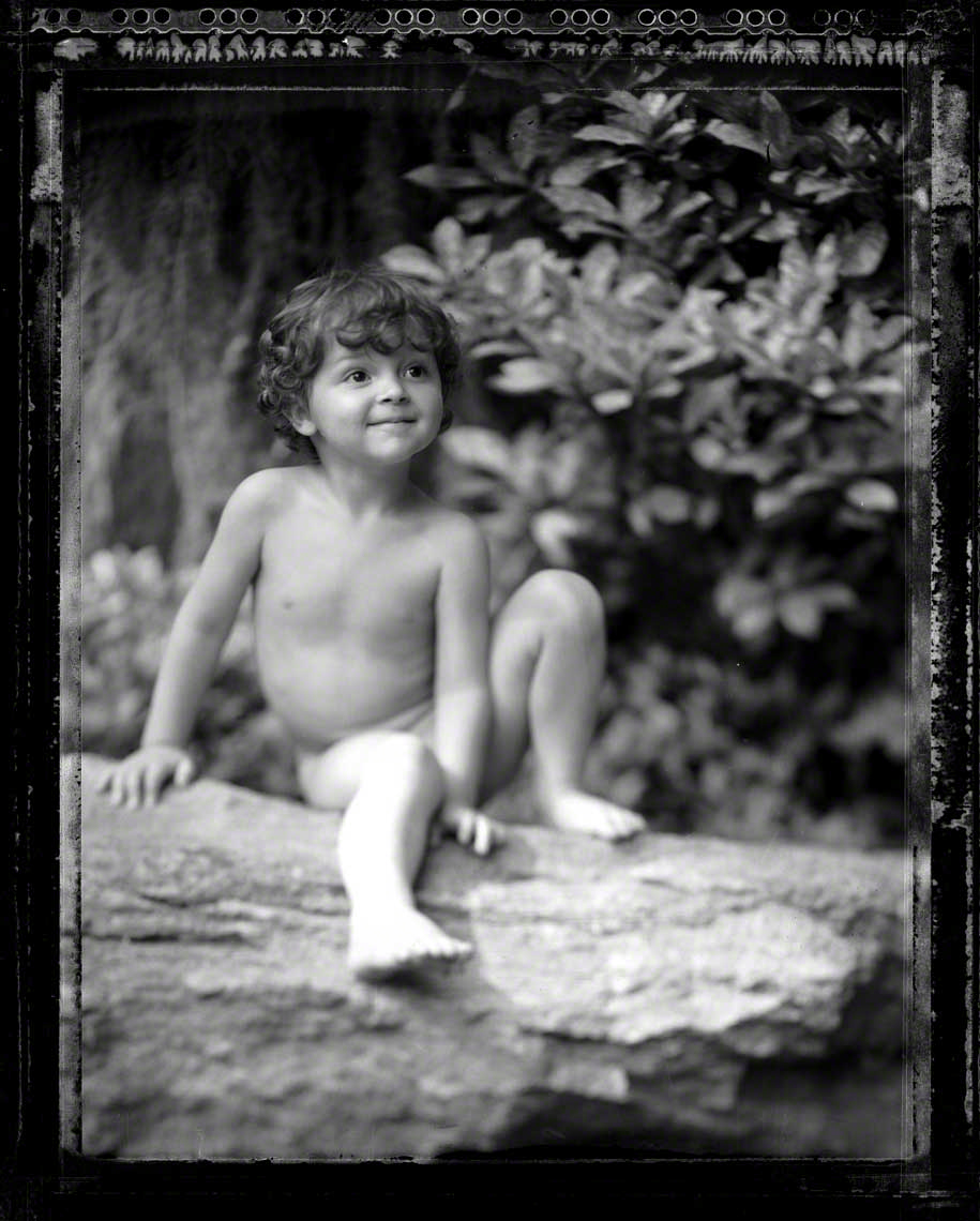 Child on a Log